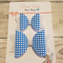 A4 Gingham Style printed fabric
