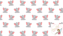 Elephant A4 Bow Fabric - 2 to choose from