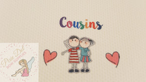 A4 Cousins Printed Bow Fabric