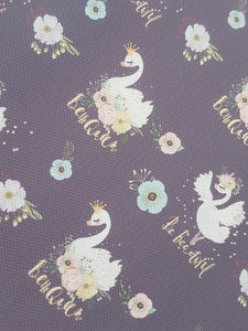 Be the Queen/ Blue Swan Printed fabric