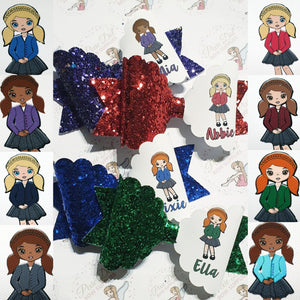 Custom School girl Uniform print (6 names per sheet)