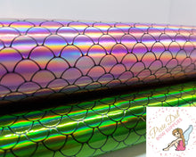 Mermaid Scales PVC topped Leatherette