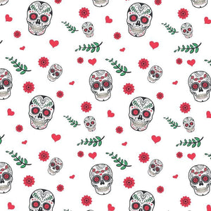Skull Printed Fabric - A4