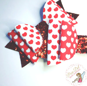 Mini Hearts Printed Fabric