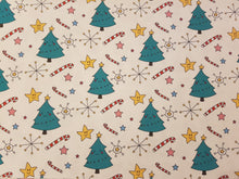 Christmas Tree Face Printed Fabric