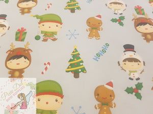 Cute Christmas Printed Bow Fabrics (A4 - 3 to choose from)