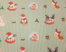 Christmas Pets Approx A4 Fabric