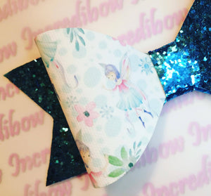Winter Fairy Printed Bow Fabric