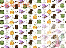 Cute Halloween A4 Pinted Fabric