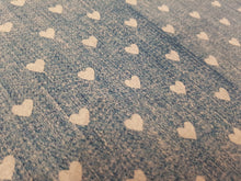 Patterned Denim effect printed fabric (2 to choose from)