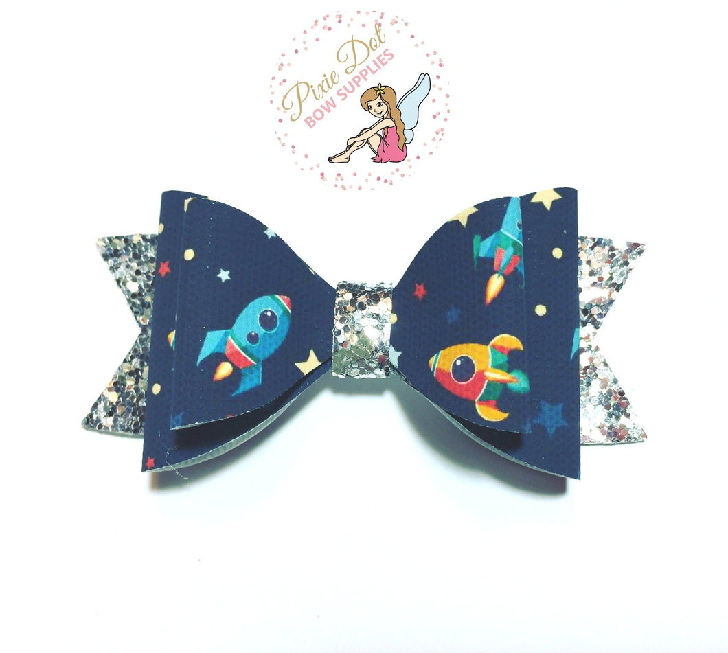 Rocket Printed Bow Fabric