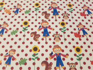 Scarecrow Fabric (Approx A4)