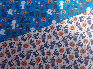 Cute Halloween Bow Fabric A4