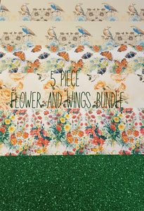 5 piece flower and wings bundle