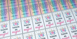 Teachers are Magical Keyring inserts(5cm x 3.5cm)