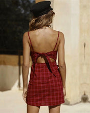Load image into Gallery viewer, LOVE ME KNOT PLAID DRESS