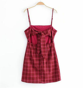 LOVE ME KNOT PLAID DRESS