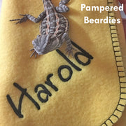 Personalized Blankets for Bearded Dragons, Reptiles, and Small Pets