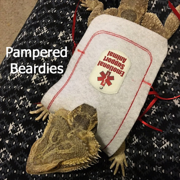 Emotional Support Animal Vest for Bearded Dragons, Reptiles, and Small Animals.