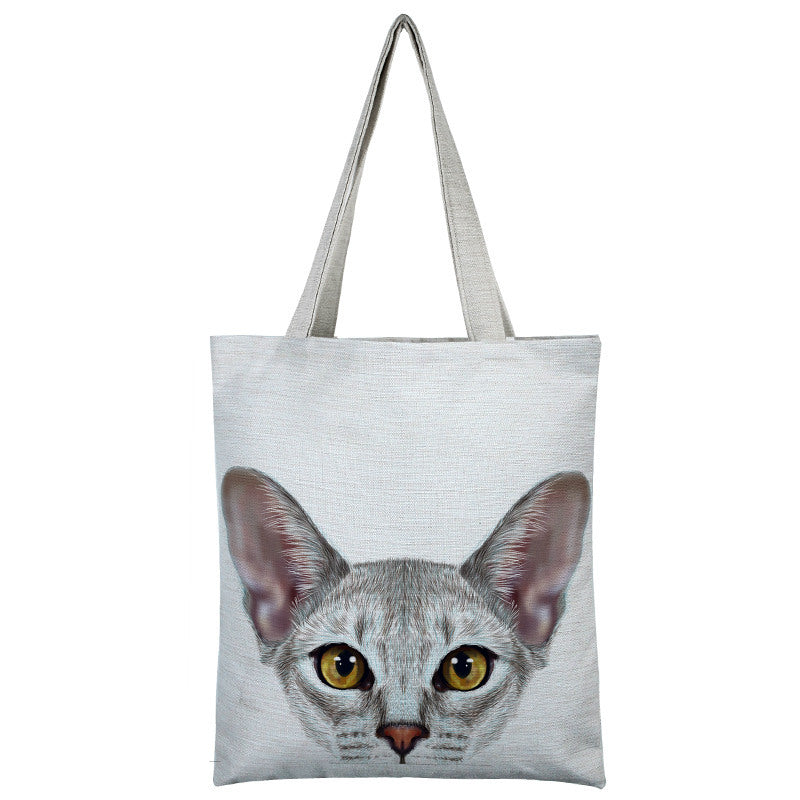 Multiple Cat Collection Canvas Tote Bag