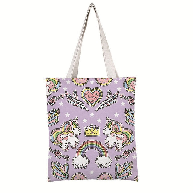 Unicorn Canvas Tote Bag