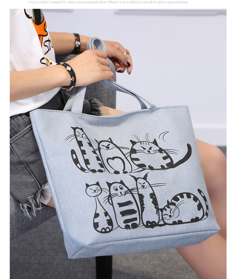 """Catsized"" Premium Canvas Tote Bag"