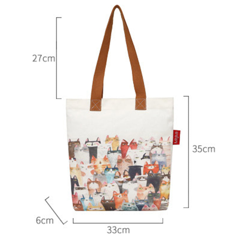 """Catogether"" Premium Canvas Tote Bag"