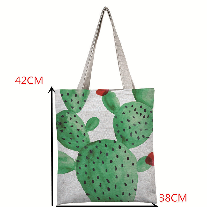 Cactus Canvas Tote Bag