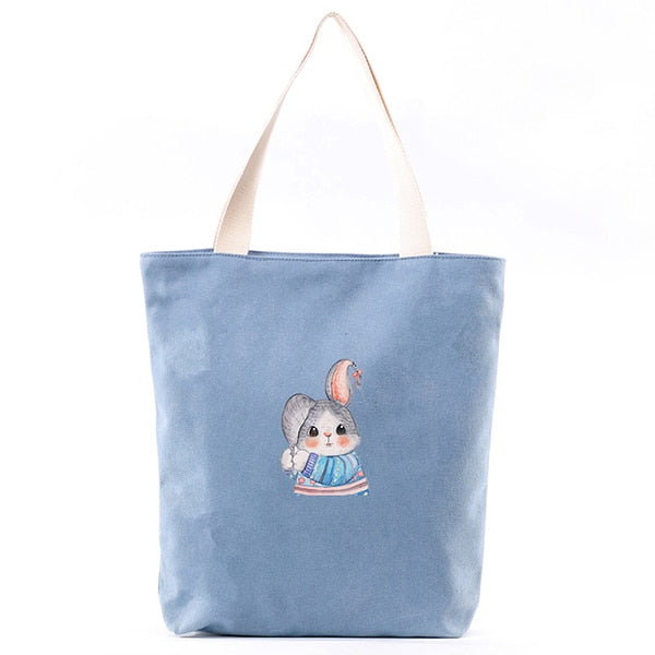 Bunny Canvas Tote Bag