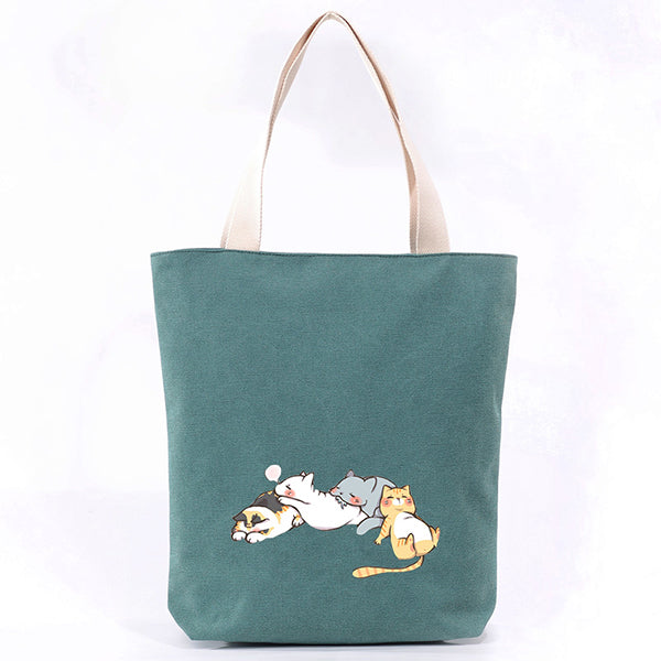 Cat Canvas Tote Bag