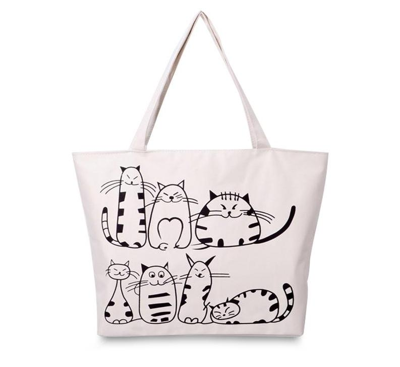 """Catsized"" Premium Canvas Tote"