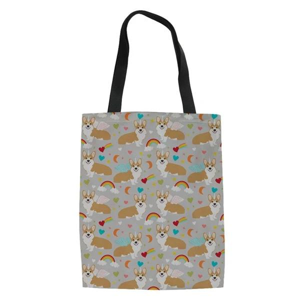 Corgi Canvas Tote Bag