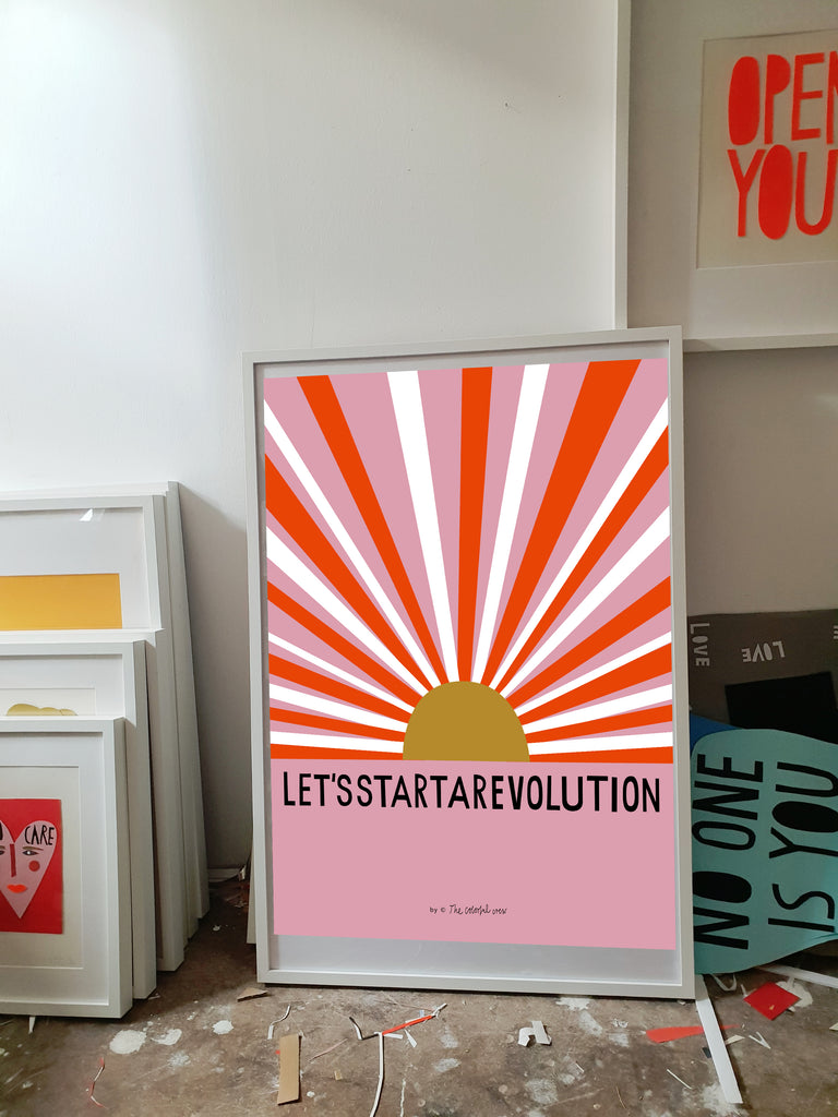 NEW • LET'S START A REVOLUTION Fineartprint