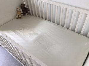 Satin fitted cot bed sheet - Lot of 2