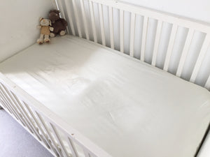 Satin fitted cot bed sheet
