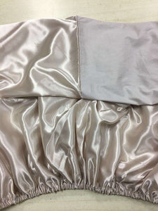 Satin cotton split fitted bed sheet - Lot of 2