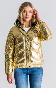 Gianni Kavanagh / Jacket Shiny Gold Quillted
