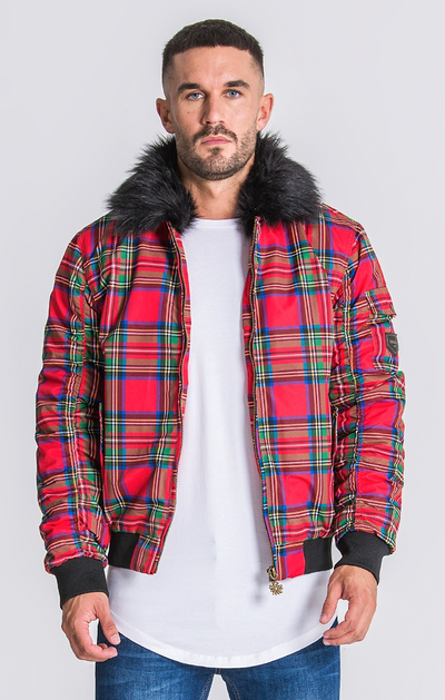 Gianni Kavanagh / Red Tartan Vintage Coat