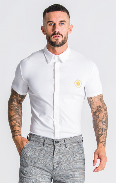Gianni Kavanagh / Shirt Golden Circle White Jersey