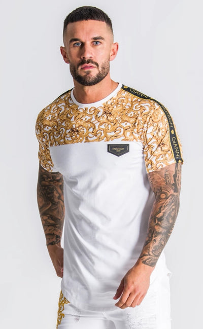 Gianni Kavanagh / T-Shirt Baroque Excess White Block