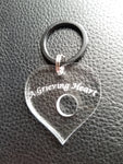 "ENGRAVED ""A Grieving Heart"" Keepsake Heart"
