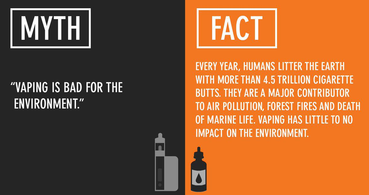 vaping vs smoking for the environment