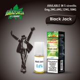 Black Jack 10ml E-Liquid by Amazonia (Pack of 10)
