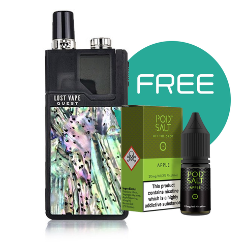 Orion Q Abalone Collection Starter Kit By Lost Vape + Free Pod Salt