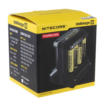 NITECORE INTELLICHARGER I8 (INTELLIGENT BATTERY CHARGER 8 SLOT)