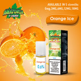 Orange Ice 10ml E-Liquid by Amazonia (Pack of 10)