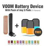 Voom Battery Device With Pack Of 3 20mg Nic Salt Pods