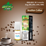 Amazonia Brazilian Coffee 10ml Eliquid (Pack of 10)
