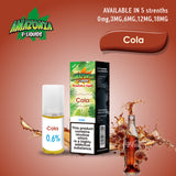 Cola 10ml E-Liquid by Amazonia (Pack of 10)