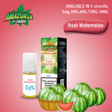 Fresh Watermelon 10ml E-Liquid by Amazonia